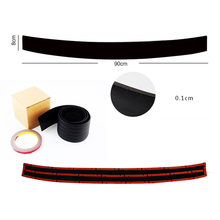 Car Rear Bumper Rubber Scuff Trim For Volkswagen VW polo passat b5 golf 4 jetta mk6 tiguan For VOLVO XC60 Rubber Strips