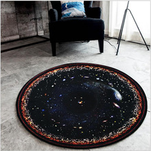 цена на Luxurey Round Rug Space Theme Universe Star Planets Area Rug,Galaxy Play Mat for Kids Area Rug Carpet for Baby Bedroom Play Room