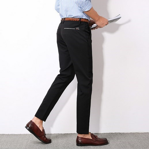 Ankle Length Mens Cheap Formal Office Suit Pants Men Slim Fit