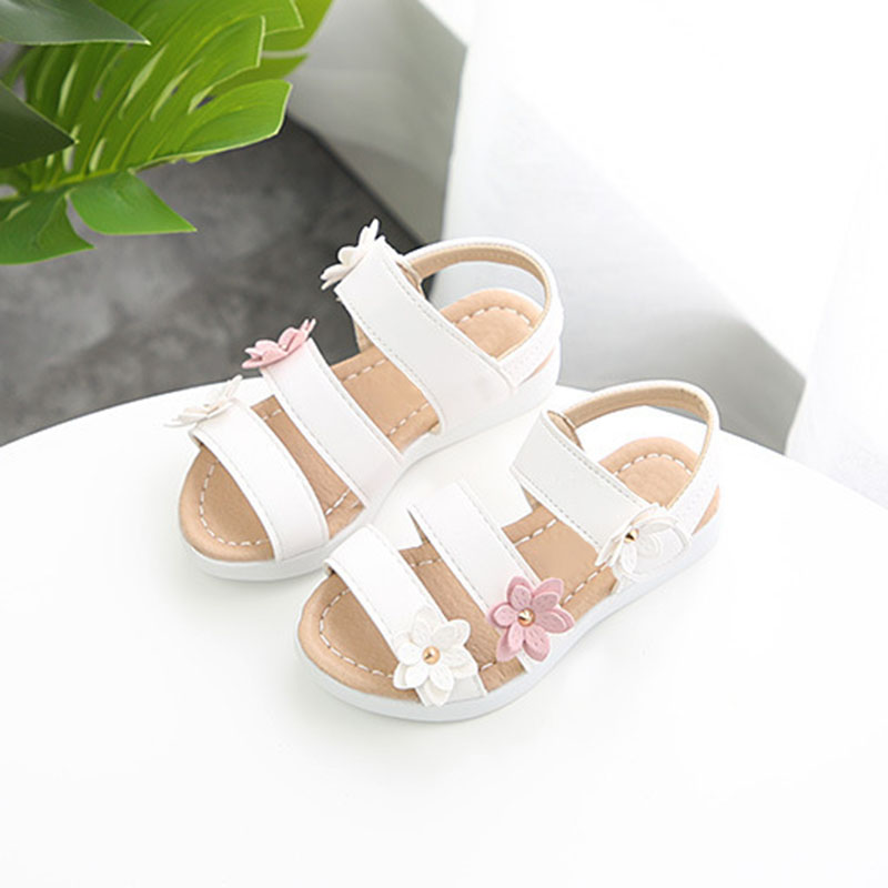 Baby Girls Kids Toddler Princess Shoes Prewalker First Walking Beach Sandals Hot ...