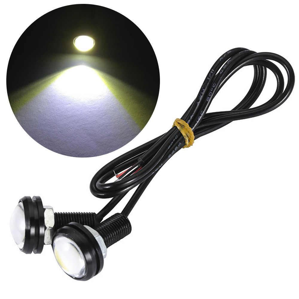 23mm Red Eagle Eye Light 9w Dc 12v Car Led Daytime Running Light Drl Backup Car Motor Parking Signal Lamps Waterproof Fog Light