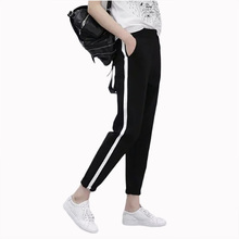 Flying Roc 2019 Korean Style Women Striped Casual Pant Femme Slim Loose Trousers Skinny New Arrival Ankle Length Pants