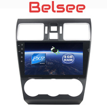 Belsee for Subaru WRX XV Forester 2016 2017 Android 8.0 Car Video 9″ Touch Screen Radio Octa Core Ram 4G+32G GPS Navigation unit