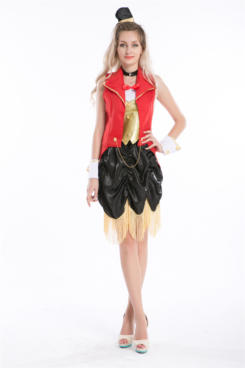 free shipping Circus Lion Tamer Ringmaster Costume Showgirl Fancy Dress S M L XL 2XL