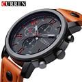 Genuine Curren Brand Design Leather Military Men Cool Fashion Clock Sport Male Gift Wrist Quartz Business Water Resistant Watch