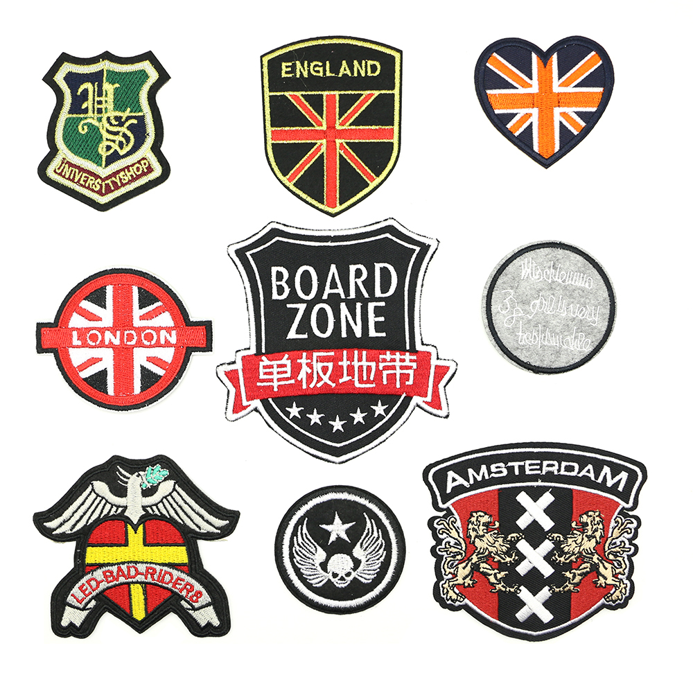 2018 New 1 pcs Iron-on The style of the British flag patches for clothing Exquisite handmade DIY badge D-031