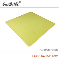 Free Shipping 214x214x1 5mm ABS Special Fixed Plate FR4 Epoxy Boards Porous Pegboard For Reprap Prusa