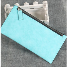 2016 New Winter Long Wallet Women Pilar Chain Bag Ladies Frosted Thin Section Clutch Bag Phone Card Package Carteira Feminia
