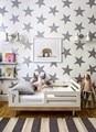 JJRUI Oro Estrellas Tatuajes de Pared de Vinilo Pegatinas Golden Star Kids Baby Room Decor Nursery Art Decor 4 TAMAÑO 21 COLOR ORO