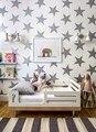 JJRUI Ouro Estrelas Decalque Da Parede Do Vinil Adesivos Golden Star Crianças Decoração do Quarto do bebê Arte Nursery Decor 4 TAMANHO 21 COR OURO