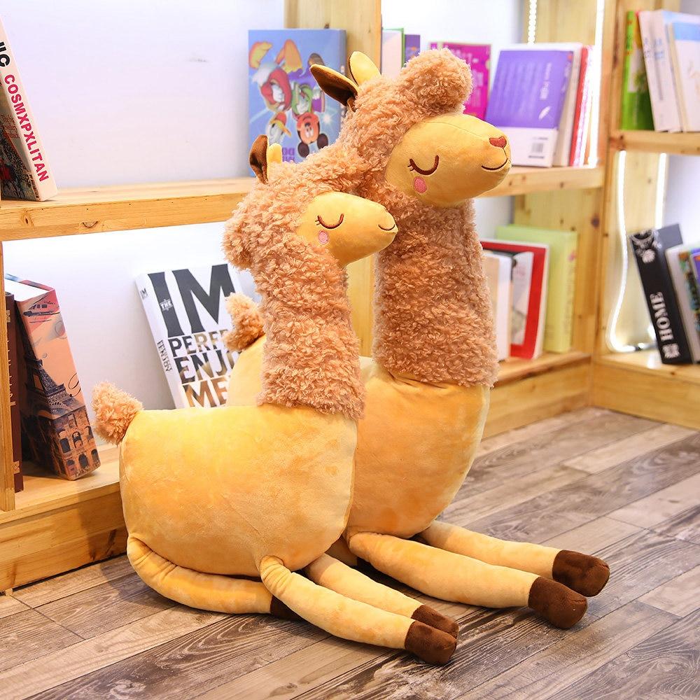1 Pc 55/80 Cm Schöne Gelehrig Kamele Halten Kissen Plüsch Stofftier Puppe Haushalt Kinder Urlaub Geschenk Geburtstag Geschenk