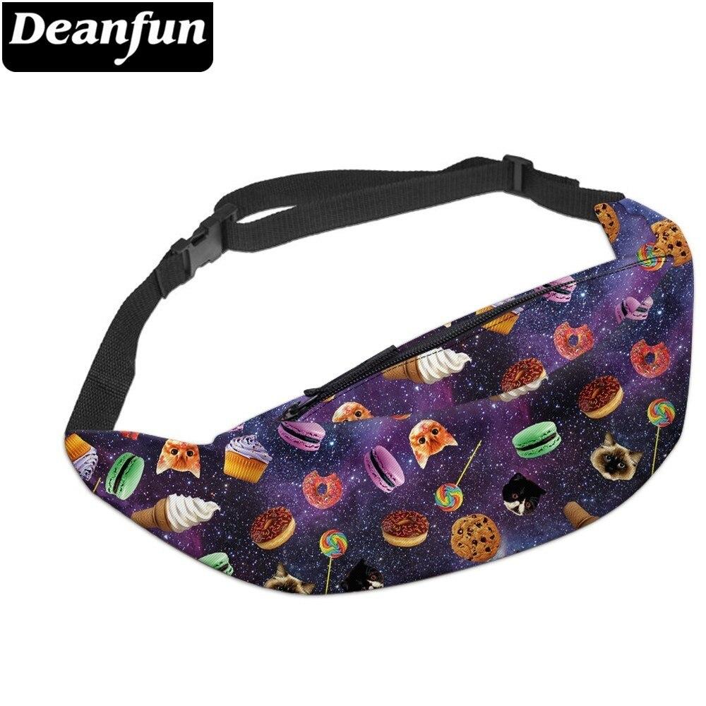 Deanfun New 3D Colorful Waist Pack For Men Fanny Pack Style Bum Bag Cat Women Money Belt Travelling Mobile Phone Bag YB30