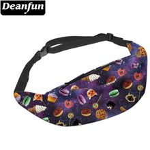 Deanfun New 3D Colorful Waist Pack For Men Fanny Pack Style Bum Bag Cat Women Money Belt Travelling Mobile Phone Bag YB30(China)