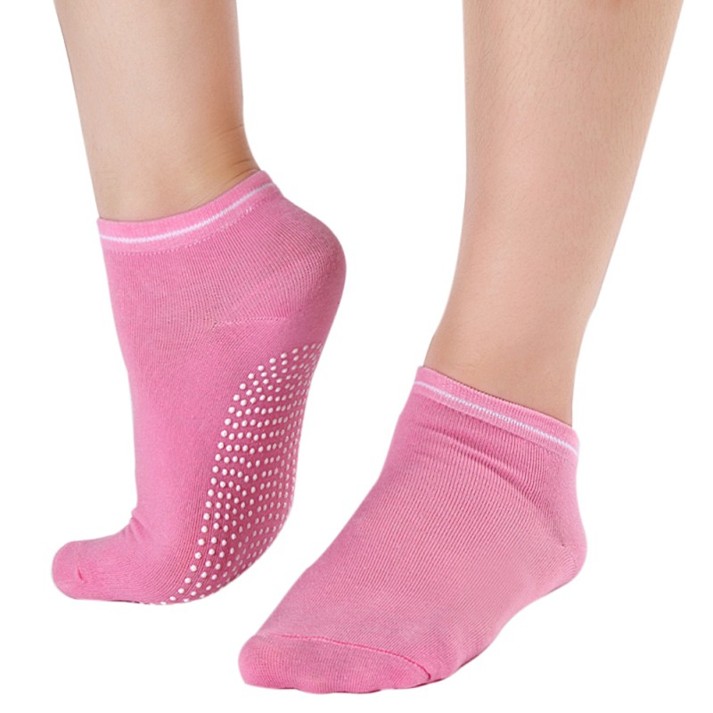 Women Fitness Cotton Gym Sports Socks Breathable Non Slip Massage Yoga Pilates Socks Comfortable 12 Colors New 2017 women yoga dance sports pilates anti slip exercise massage half toe socks