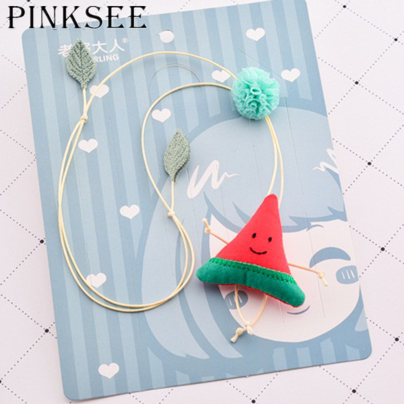 PINKSEE Cute Watermelon Pineapple Pendant Necklace Children Kids Clothing Accessories Jewelry Gift ...