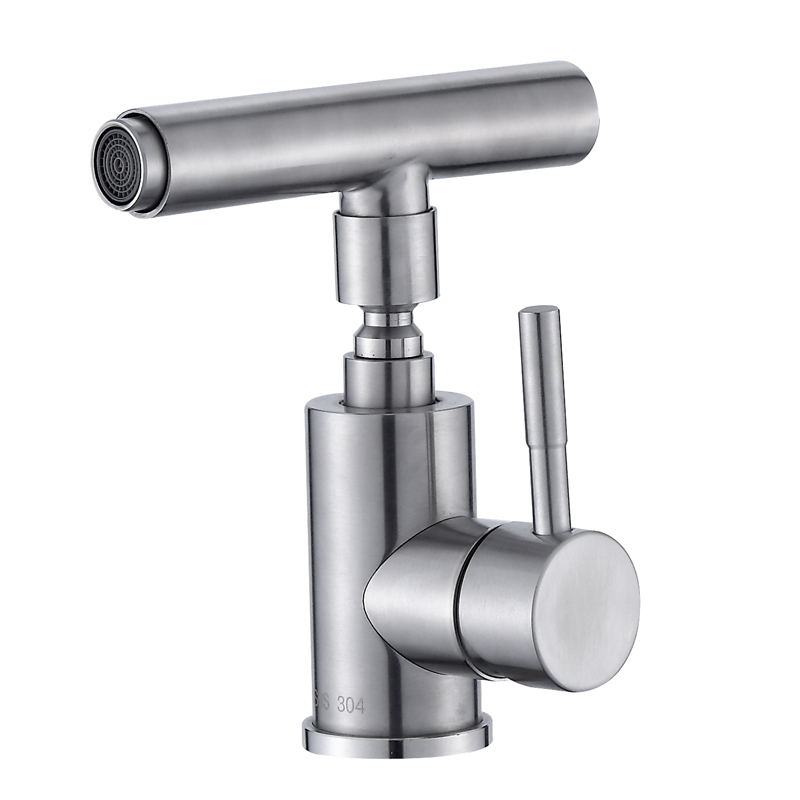 купить 304 stainless steel universal robot single hole hot and cold faucet fashion basin hot and cold faucet по цене 5607.88 рублей