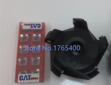 New R8 M12 FMB27  holder + SE-KM-45 degree  face mill cutter  KM12 80-27-5T + 10pcs SEKT1204 aluminium carbide inserts