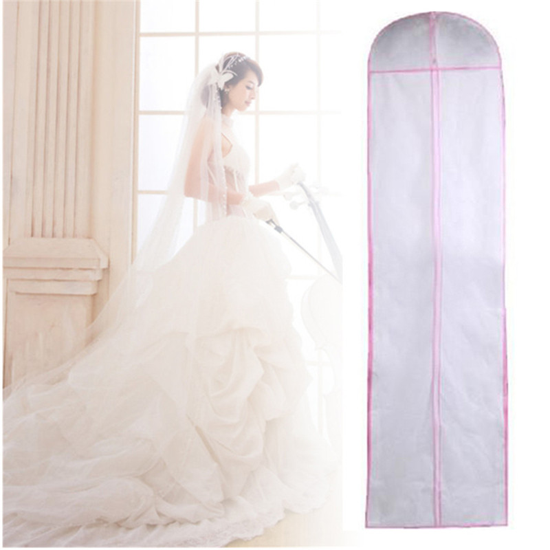 2 Size Garment Storage Bag Covers For Wedding Dress Gown Clothes Protector  Case Wedding Dress Dustproof Cover Portector In Storage Bags From Home U0026  Garden ...
