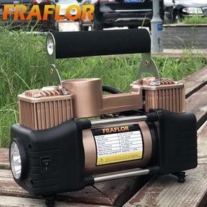 Image 5 - 자동차 타이어 타이어 팽창기 휴대용 금속 자동차 자동 전기 펌프 공기 압축기 더블 실린더 디지털 공기 압축기