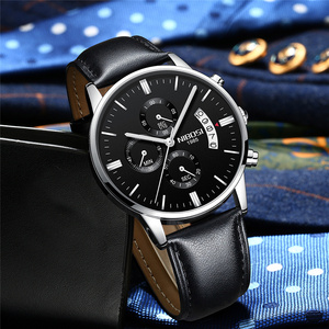 Image 5 - NIBOSI Watch Relogio Masculino Luxury Brand Mens Chronograph Business Watches Men Steel Leather Waterproof Quartz Wristwatch