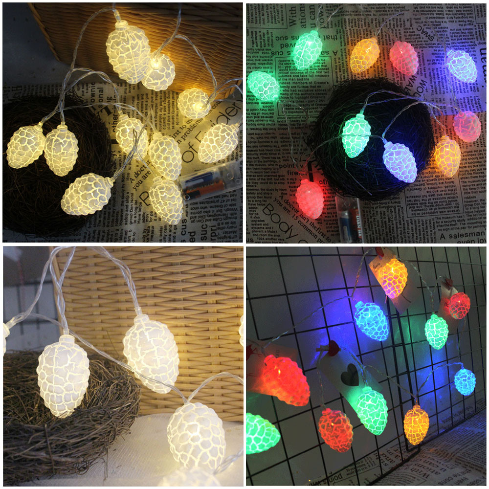 Lights & Lighting Outdoor Lighting The Cheapest Price 1.5m 10 Led Pine Cones Battery Box Light String Party Wedding Decor Lights New Arrival Hot Sale Elegant Shape