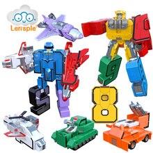 Lensple Educational Digital Number Magic Transformation Toys Assembling Action Figure Robots Best Gifts For Kids