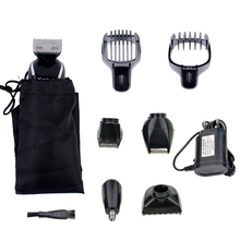 Kemei 5 in 1 Waterproof Rechargeable Electric Hair Clipper Men Trimmer Professional Nose Ear Beard Trimmers Shaver Cutting Tools