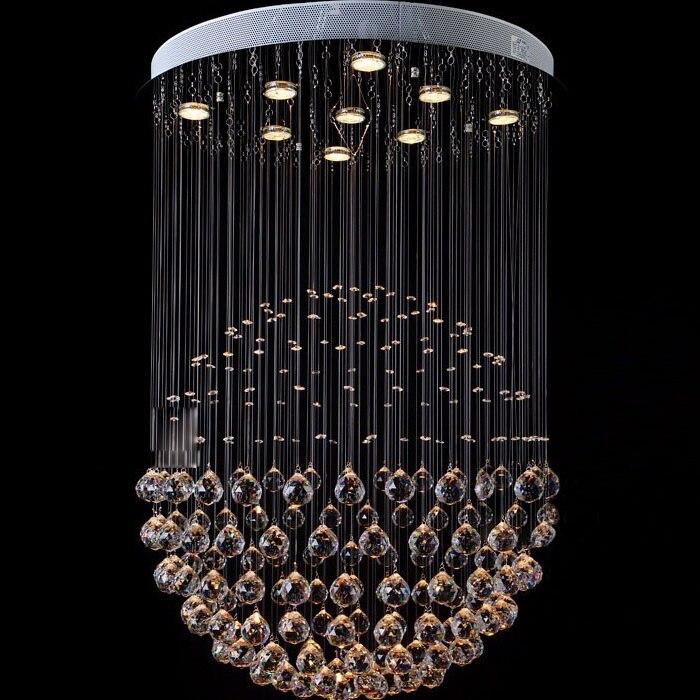 Modern LED Crystal Pendant Lamp Crystal Ball Stair Hanging Lamp Luxury Creative Bar Counter Restaurant Dining Room Pendant Light ems free shipping pendant light iron lamp crystal pendant light restaurant lamp stair lamp balcony lamp pendant light