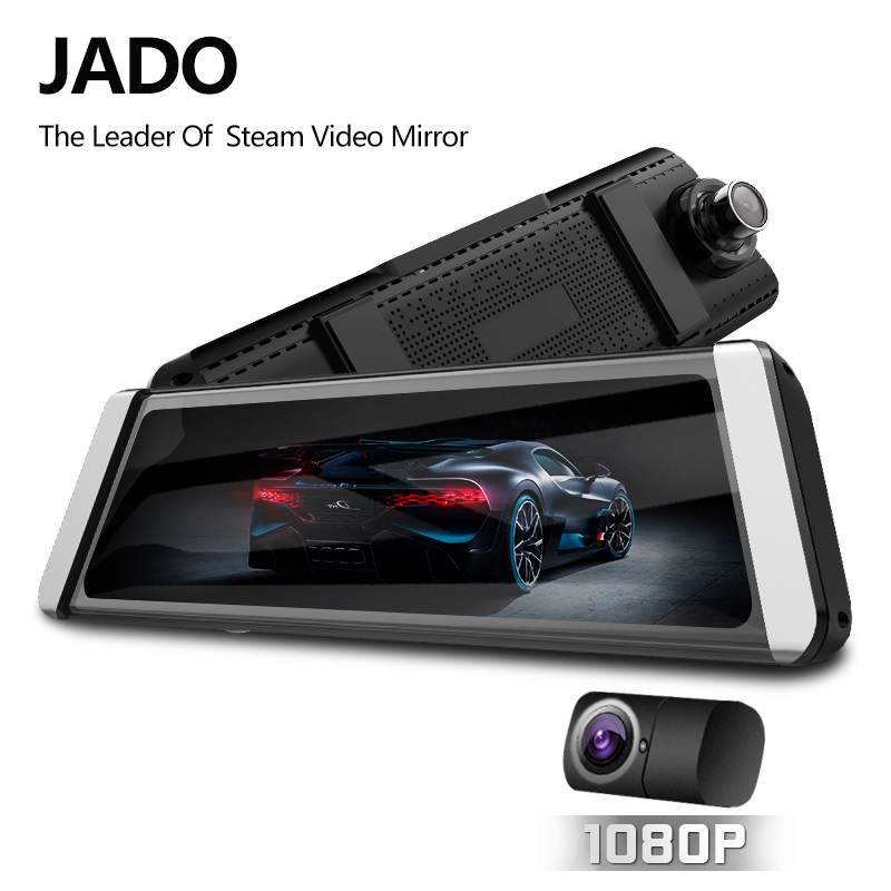 JADO D800s X6 Stream Rearview Mirror LDWS GPS Track 10 IPS Touch Screen Full HD 1080P Car Dvrs Dash cam