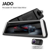 JADO D800s X6 Stream Rearview Mirror LDWS GPS Track 10 IPS Touch Screen Full HD 1080P Car Dvrs Dash cam