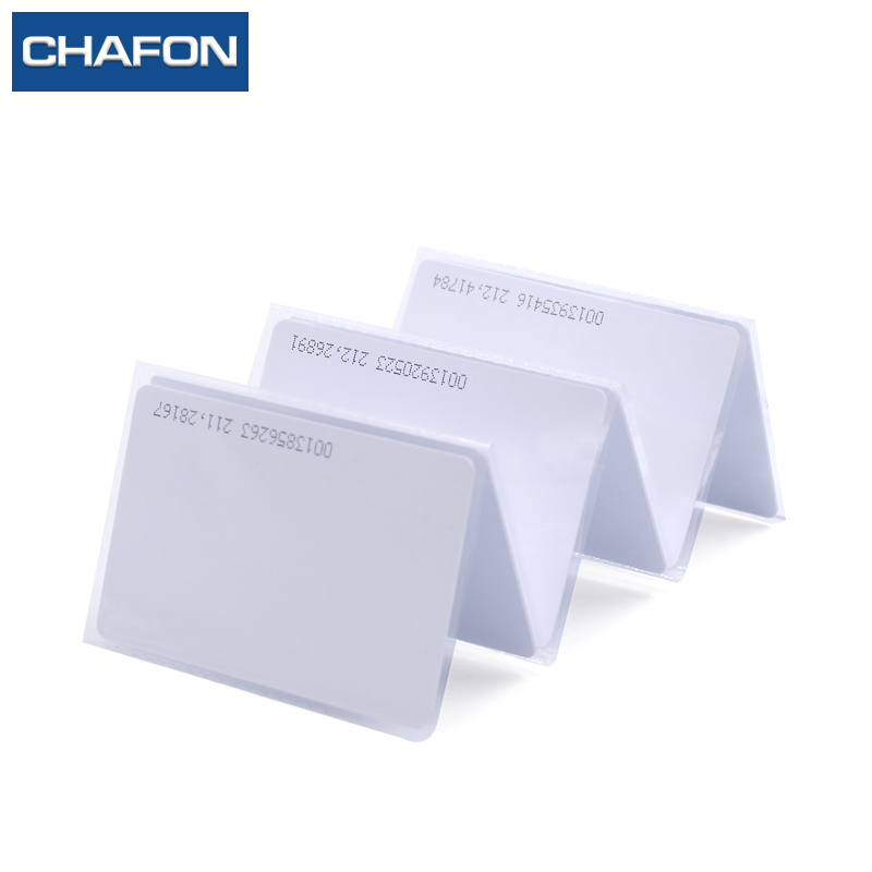 CHAFON 100pcs 125kHz TK4100 Chip RFID Proximity ID Smart Entry Access Card With UID Series Number For Personnel Management
