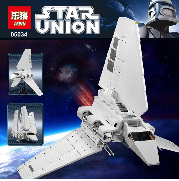 LEPIN 05034 Genuine Star War Series The Imperial Shuttle Mobile Building Block 2599Pcs Bricks Compatible With LEPIN 10212 lepin 22001 pirate ship imperial warships model building block briks toys gift 1717pcs compatible legoed 10210