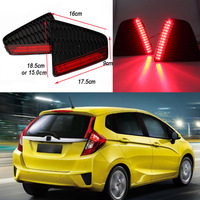 Car Styling Tail Rear Bumper Lamp LED Reflector Stop Brake Light Fog Lamp For Honda Fit
