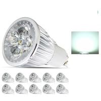 10X LED Spot Light 4W GU10 Dimmable LED Bulb AC85 265V Led Spotlights Warm/Cool White lamp High brightness Spot light lamp