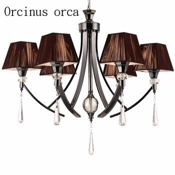 Lámpara de araña de cristal negro moderna de lujo para sala de estar, comedor, dormitorio, tienda de ropa, lámpara de cristal creativa, envío gratis