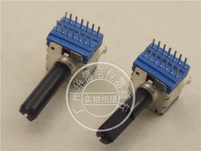 Original new 100% RK1411G2 B100K B104 F30 142 type horizontal quadruple potentiometer 14pin handle long 23MMF (SWITCH)