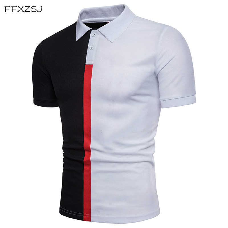 FFXZSJ 2018 high quality summer fashion men's casual simple fashion color matching men's lapel short sleeve   POLO