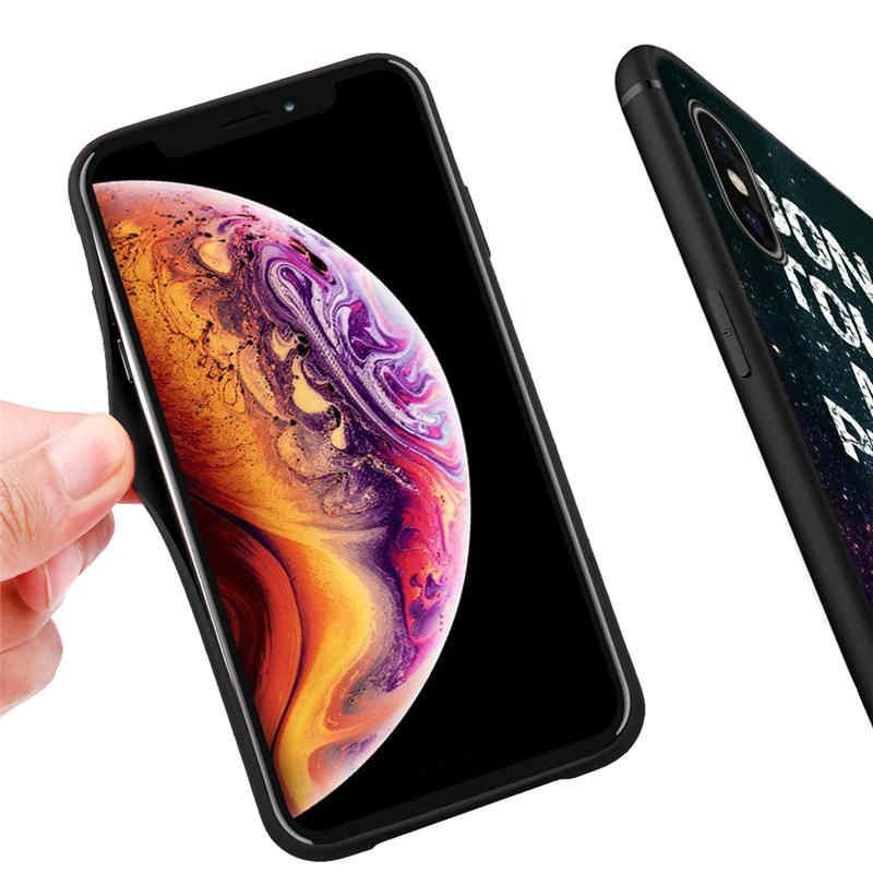 Модный простой чехол для iPhone X XR XS Max 8 7 6S Plus 5 5S SE Силиконовые чехлы Fundas Capinhas Etui
