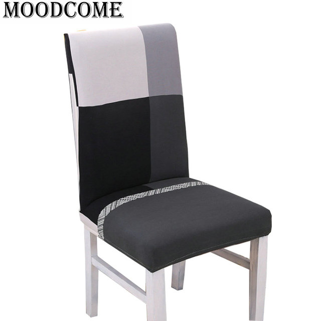 Swell Us 3 12 7 Off Kitchen Chair Cover Elasti Stretch Drop Shipping New Arrival Black Grey Grid Polyester Spandex Chair Cover In Chair Cover From Home Pabps2019 Chair Design Images Pabps2019Com