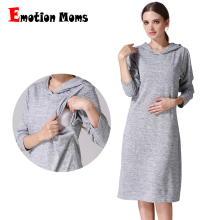 MamaLove Long Sleeve pregnancy Maternity Clothes Nursing Clothing Breastfeeding Dresses for Pregnant Women dress