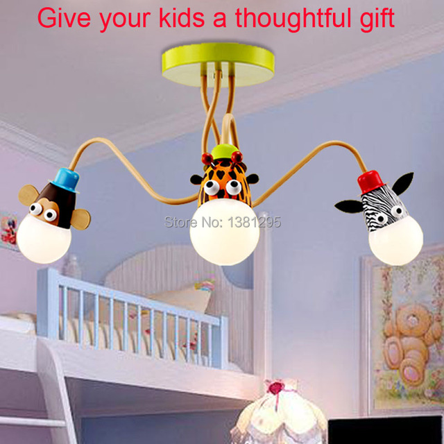 Kids Ceiling Lamps Children Room Lamp LED Boys Bedroom Light Girls ...