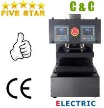 Prensa eléctrica automática para extraer aceite, controlador LCD Digital de doble placa, 15x20cm, 6x8 pulgadas, No.AUP10