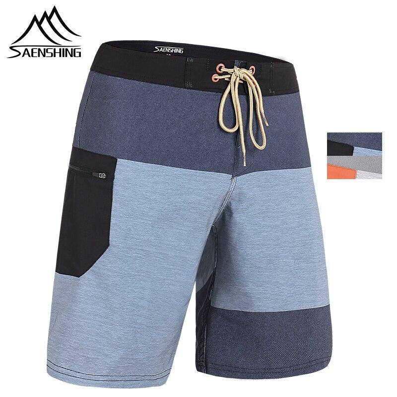 SAENSHING 2019 New Beach Board Shorts Men High Quality Surfing Swim Shorts Breathable Sport Short Male Maillot De Bain Plus Size