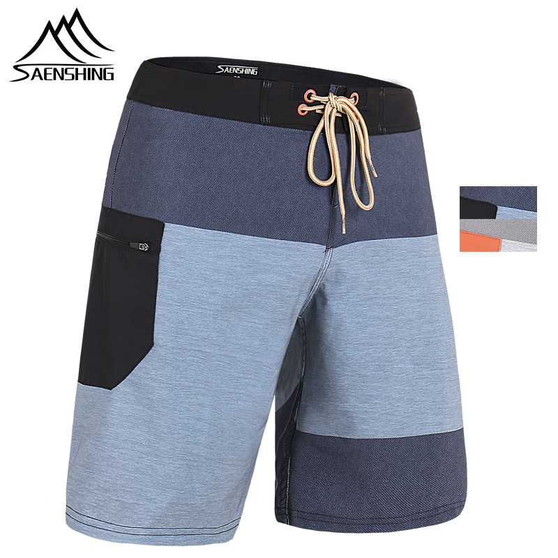 SAENSHING 2019 New Beach   Board     Shorts   Men High Quality Surfing Swim   Shorts   Breathable Sport   Short   Male Maillot De Bain Plus Size