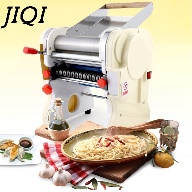 JIQI Stainless Steel Electric Pasta Press wrappers maker Commercial automatic noodle dumpling skin machine dough roll 110V 220V high quality household manual hand dumpling maker mini press dough jiaozi momo making machine