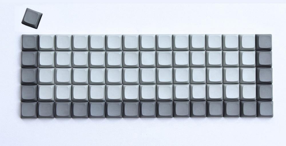 76 PCS XDA Blank Keycaps Thick PBT Blank Keyset Similar To DSA For MX Switches XD75RE Ortholinear Mechanical Keyboard Free Ship