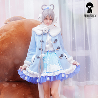 Vocaloid Luka Vsinger Luo Tianyi Cosplay Women Party Clothes Dress Small Seal Series Full Set Halloween Party Cosplay Costume
