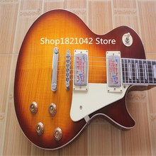 Free shipping !China gb yellow color ls Chinese pal lp stadrd electric guitars Tiger stripes gradients