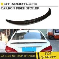 Реальные углеродного волокна для Mercedes CLA класса W117 FD Стиль задний спойлер для грузовика для CLA 200 покрытие из углеродного волокна подходит дл