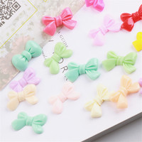 New Arrival Ribbon Kont Bows Flatback Cabochon Resin Cameo Button Patch Craft Fit Girls Headband Clips